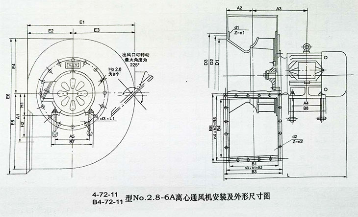 4-72-11离心通风机(图2)